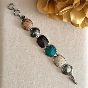 Silpada Multi-Stone Toggle Bracelet